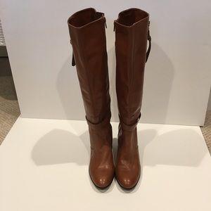 Antonio melani leather heeled boots